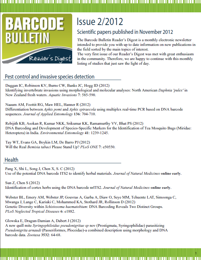 Barcode Bulletin - November 2012