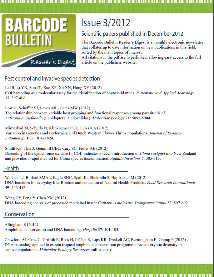 Barcode Bulletin - December 2012