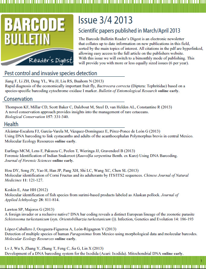Barcode Bulletin - January 2013